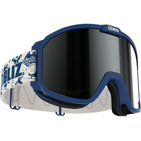 Bliz Rave Goggles Kinderen, matt blue/brown-silver mirror